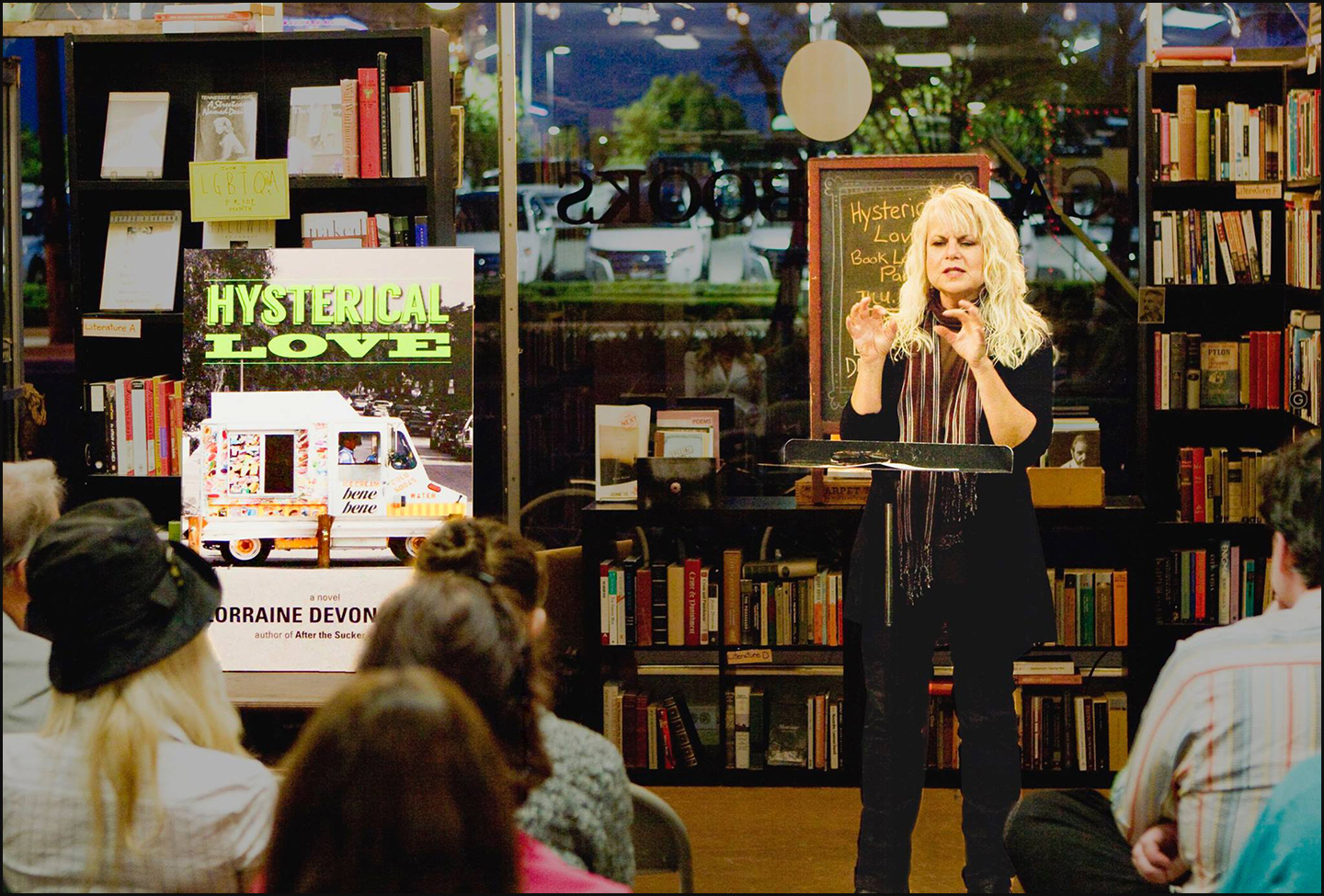 Lorraine explains it all_book reading_Hysterical Love